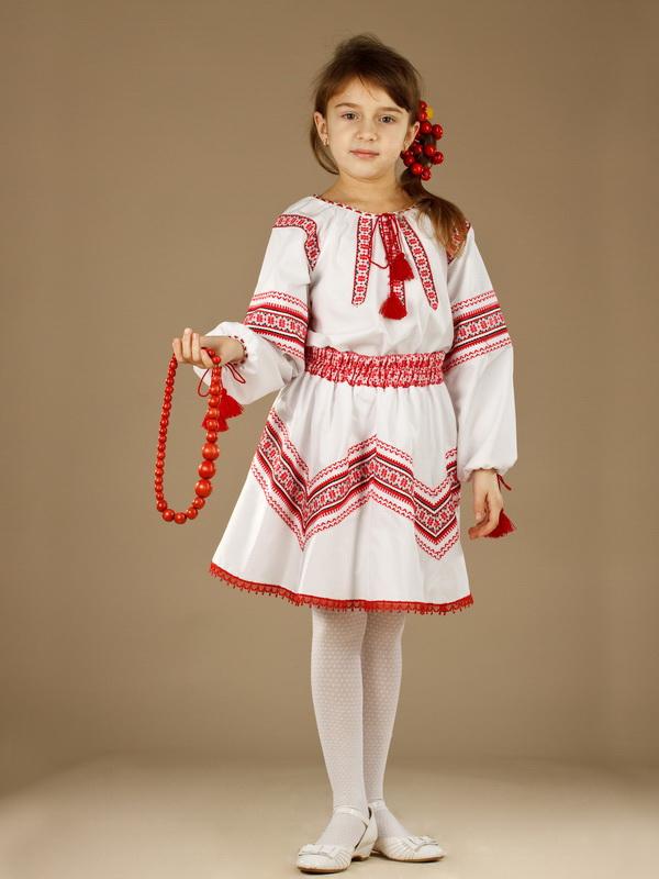 Вишитий костюм для дівчинки ЖК 36-17