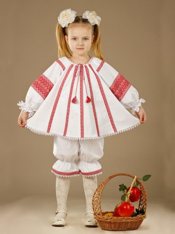 Вишитий костюм для дівчинки ЖК 43-11