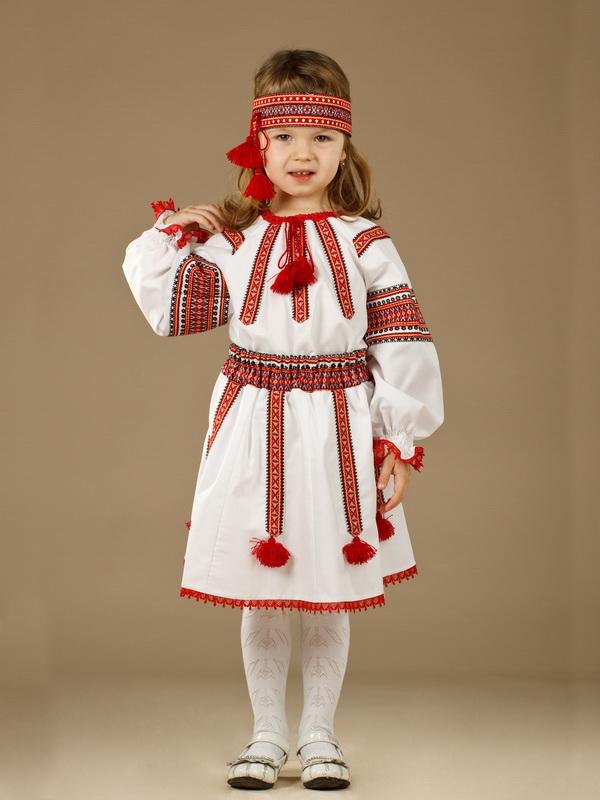 Вишитий костюм для дівчинки ЖК 51-2