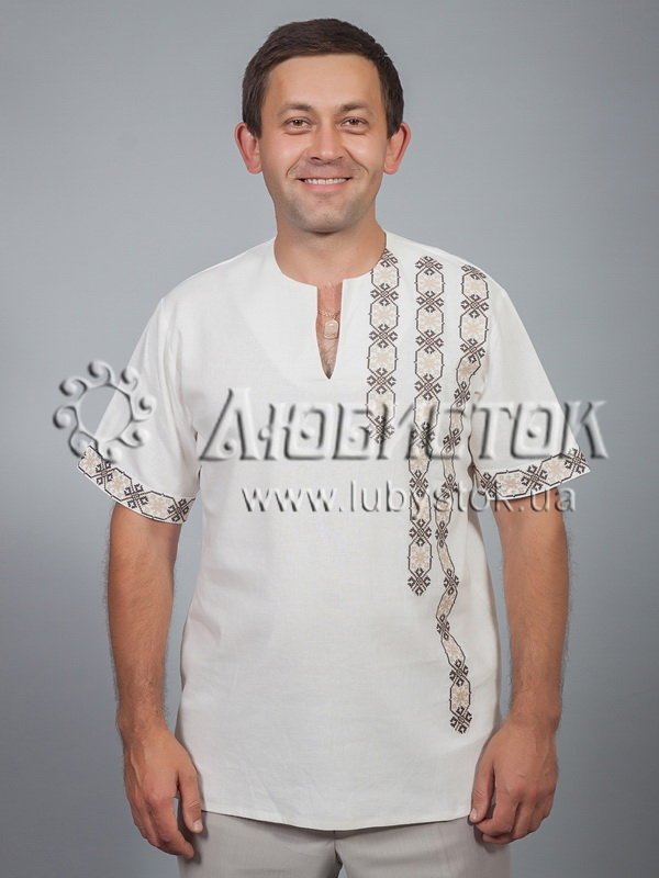 Вишита сорочка хрестиком ЧСВ 36-3