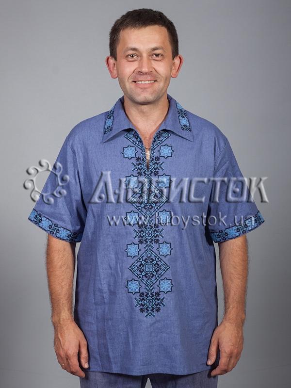 Вишита сорочка хрестиком ЧСВ 37-3