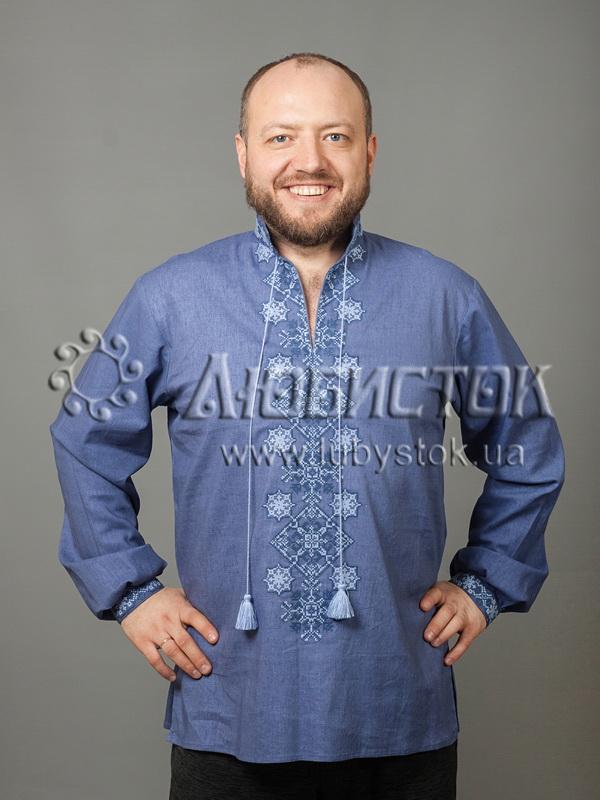 Вишита сорочка хрестиком ЧСВ 52-1