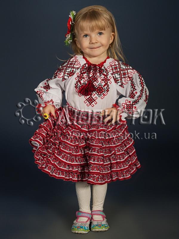 Вишитий костюм для дівчинки  ЖКВ 7-1