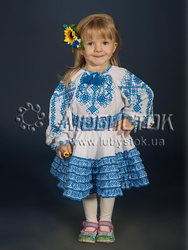 Вишитий костюм для дівчинки  ЖКВ 7-2