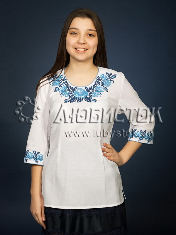 Вишиванка хрестиком жіноча ЖБВ 6-4 - купити 119976ffd7e7a
