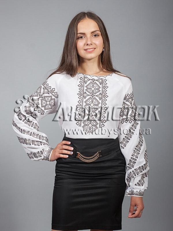 Вишиванка хрестиком жіноча ЖБВ 9-5 - купити d61428d3ae98f