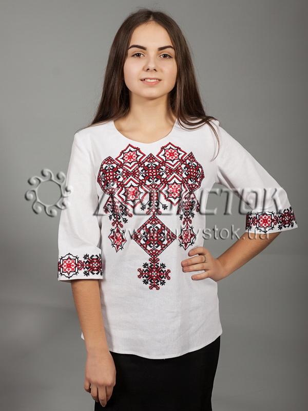 Вишиванка хрестиком жіноча ЖБВ 10-3 - купити 2610654d3110b