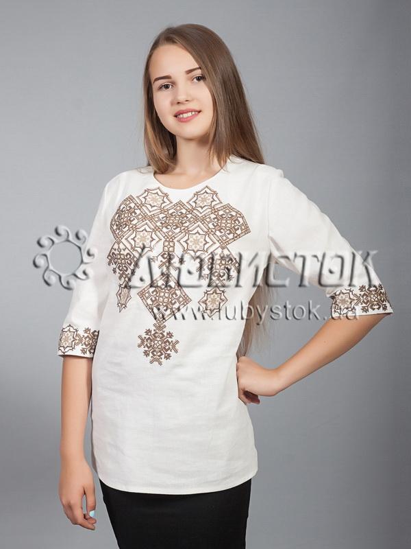 Вишиванка хрестиком жіноча ЖБВ 10-6 - купити f8987c2173064