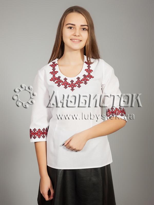 Вишиванка хрестиком жіноча ЖБВ 21-1