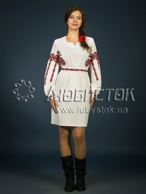Вишита сукня хрестиком ЖПВ 2-1