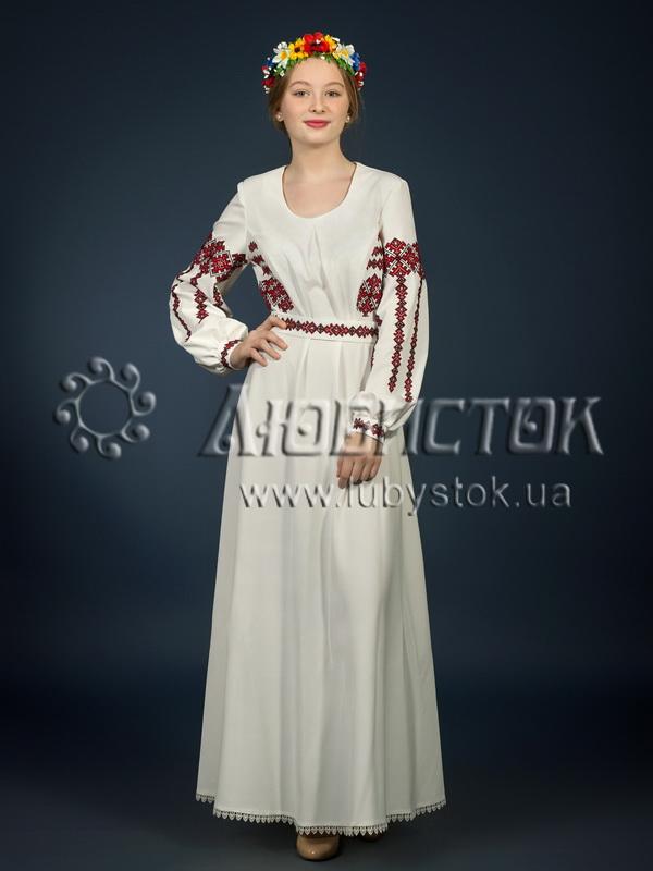 Вишита сукня хрестиком ЖПВ 3-1