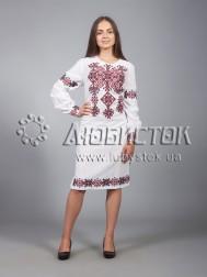Вишита сукня хрестиком ЖПВ 9-1