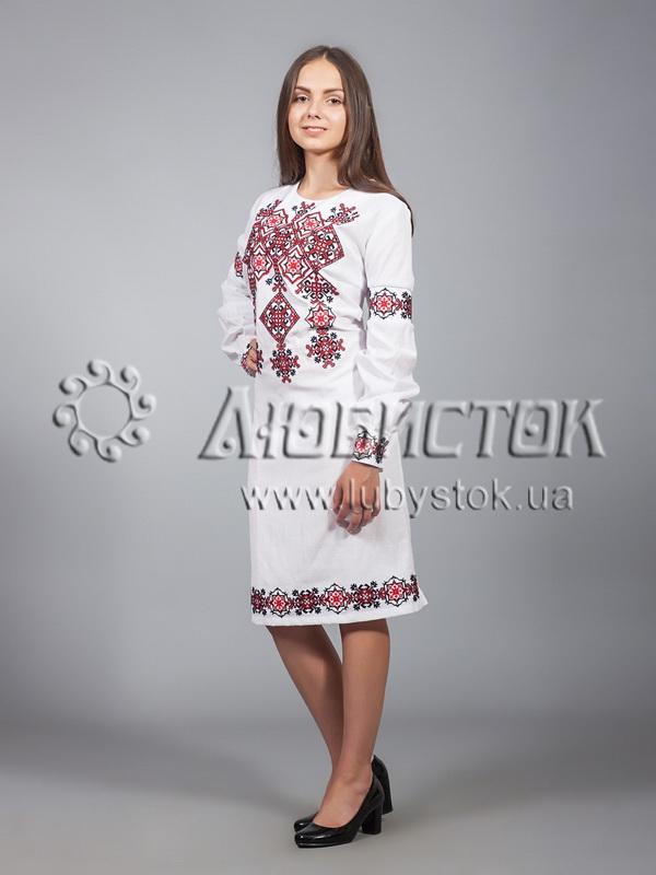 Вишита сукня хрестиком ЖПВ 9-1- купити f2d8fb9dc60bd