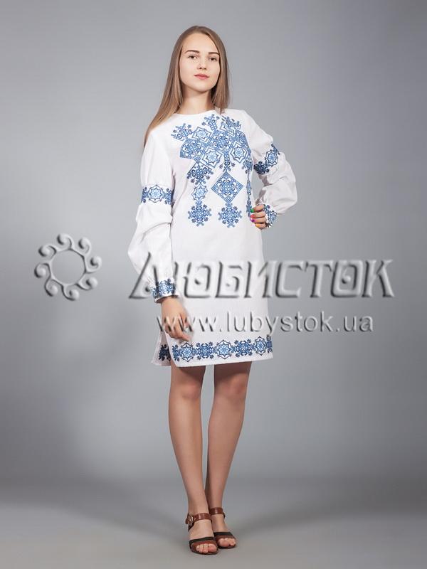 Вишита сукня хрестиком ЖПВ 9-2