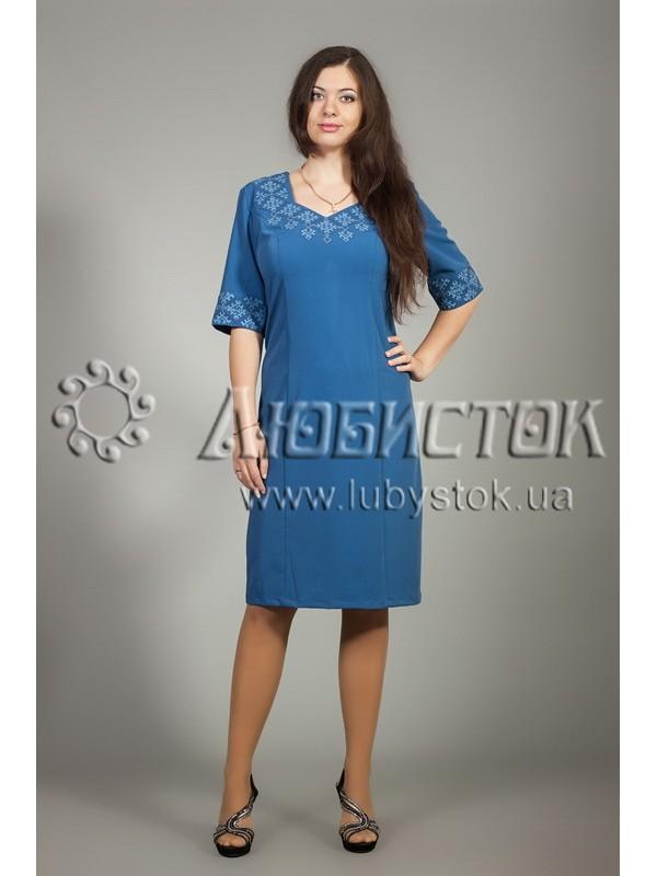 Вишита сукня хрестиком ЖПВ 12-1