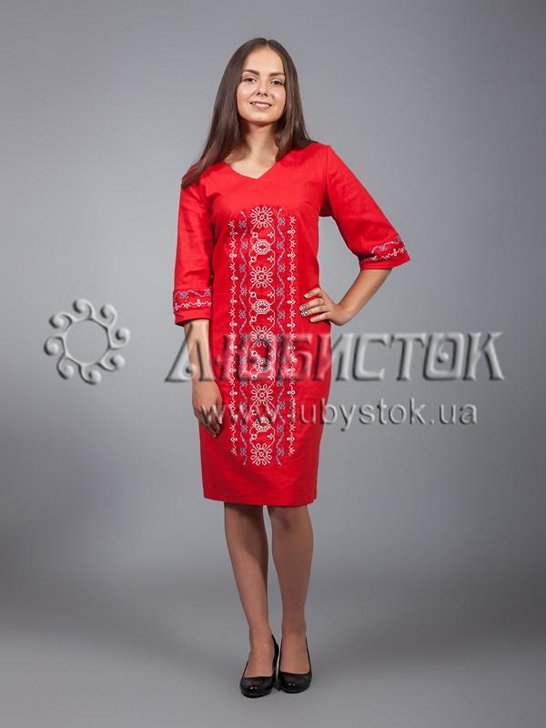 Вишита сукня хрестиком ЖПВ 15-1