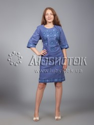 Вишита сукня хрестиком ЖПВ 16-1