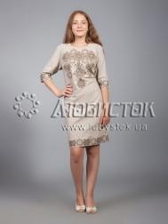 Вишита сукня хрестиком ЖПВ 16-3