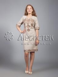 Вишита сукня хрестиком ЖПВ 16-5