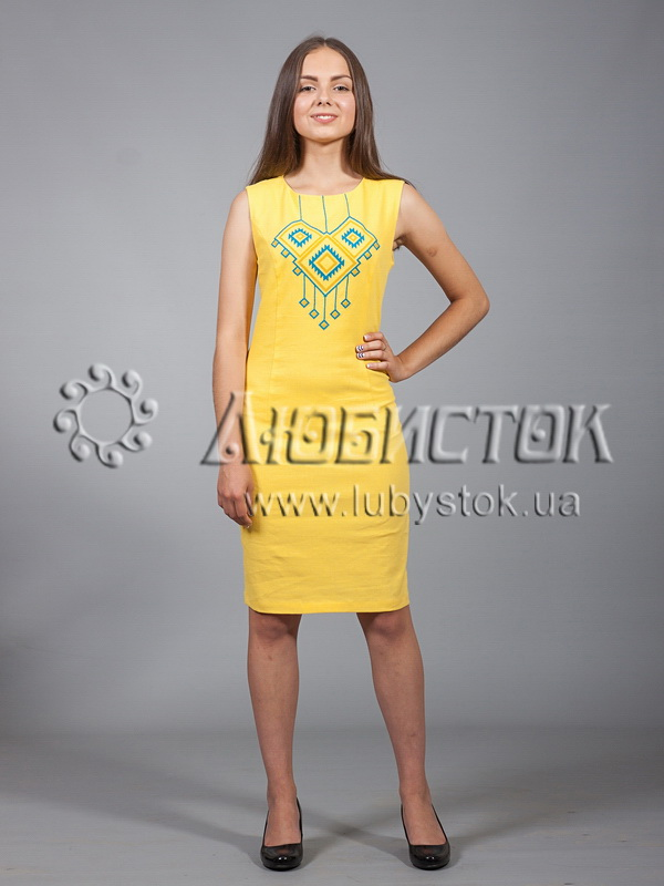 Вишита сукня хрестиком ЖПВ 17-1