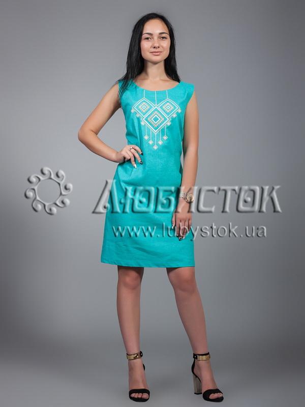 Вишита сукня хрестиком ЖПВ 17-8