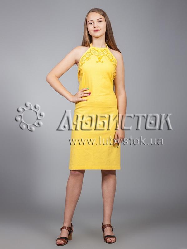 Вишита сукня хрестиком ЖПВ 18-4