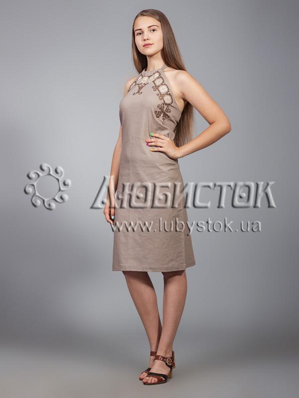 Вишита сукня хрестиком ЖПВ 18-5
