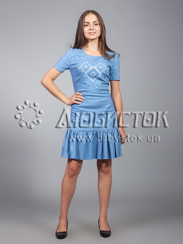 Вишита сукня хрестиком ЖПВ 21-2