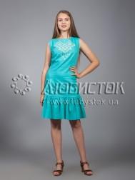 Вишита сукня хрестиком ЖПВ 21-3