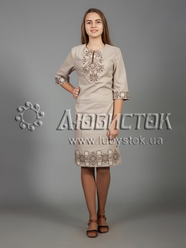 Вишита сукня хрестиком ЖПВ 26-2