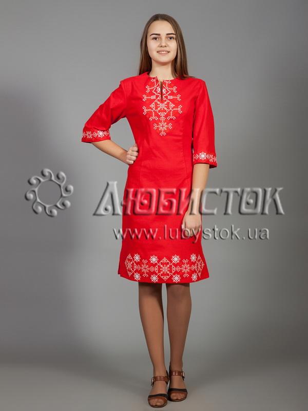Вишита сукня хрестиком ЖПВ 26-4