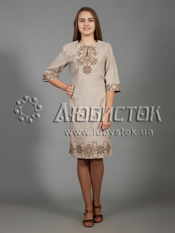 Вишита сукня хрестиком ЖПВ 26-5