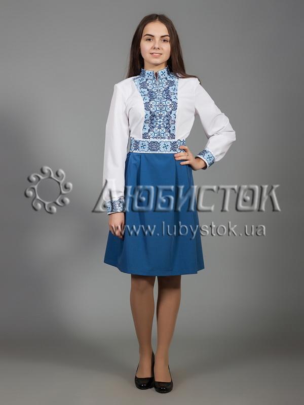 Вишита сукня хрестиком ЖПВ 27-1