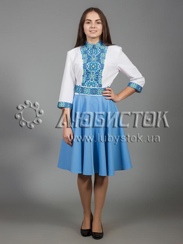 Вишита сукня хрестиком ЖПВ 29-1