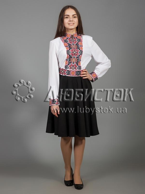 Вишита сукня хрестиком ЖПВ 30-1