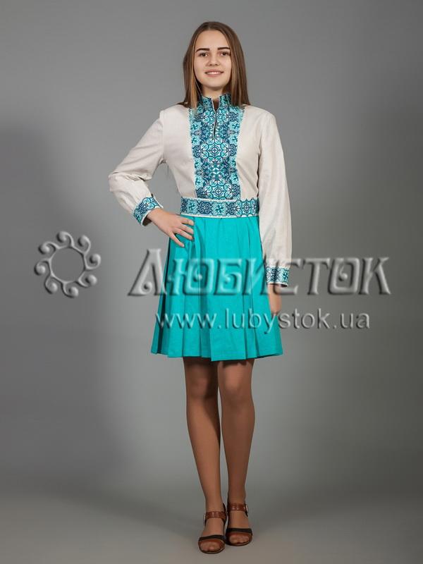 Вишита сукня хрестиком ЖПВ 31-2