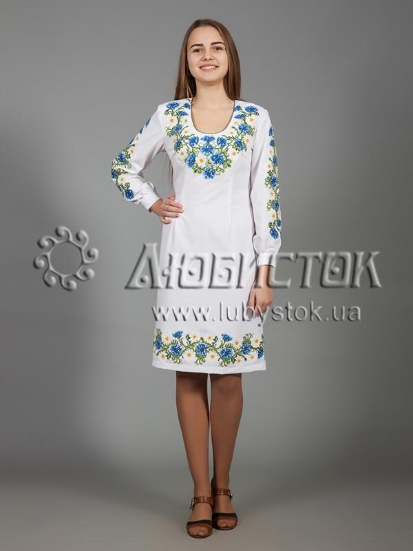 3768201c0b143c Вишита сукня хрестиком ЖПВ 36-1- квіти - купити