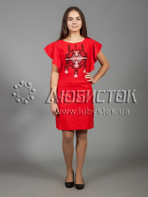 Вишита сукня хрестиком ЖПВ 37-1