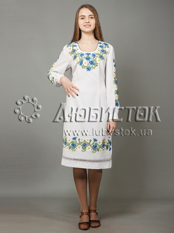 a1dde66ba5adff Вишита сукня хрестиком ЖПВ 40-1 - купити