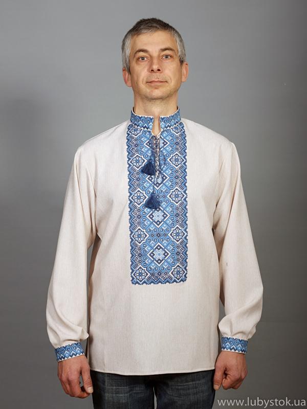 Вишита сорочка хрестиком ЧСВ 11-8L