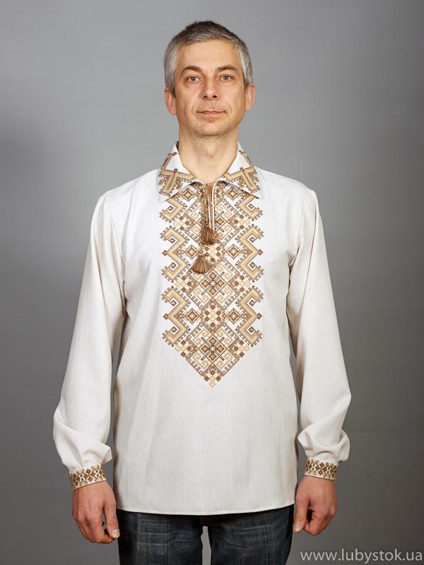 Вишита сорочка хрестиком ЧСВ 24-5