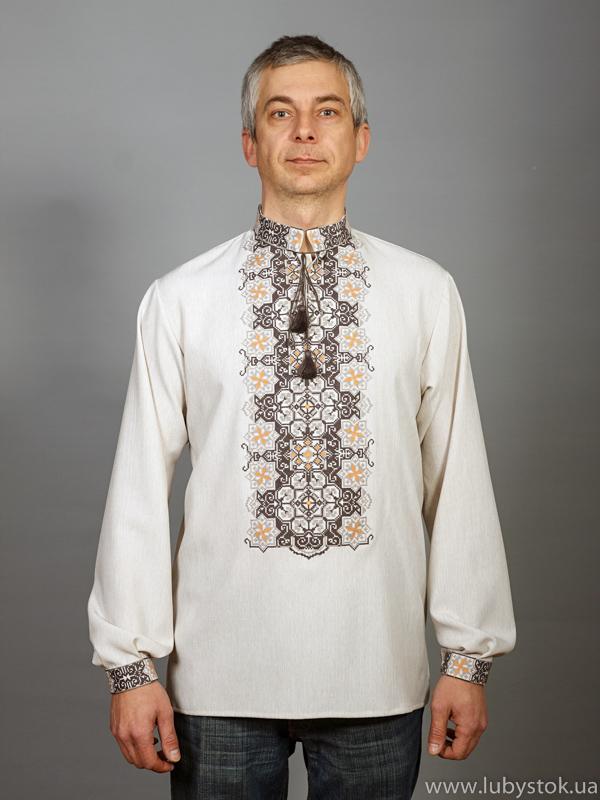 Вишита сорочка хрестиком ЧСВ 47-1L
