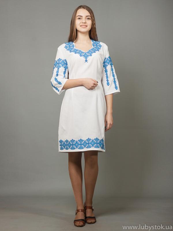 Вишита сукня хрестиком ЖПВ 5-3