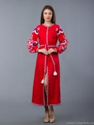 Вишита сукня хрестиком ЖПВ 10-2