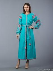 Вишита сукня хрестиком ЖПВ 10-4