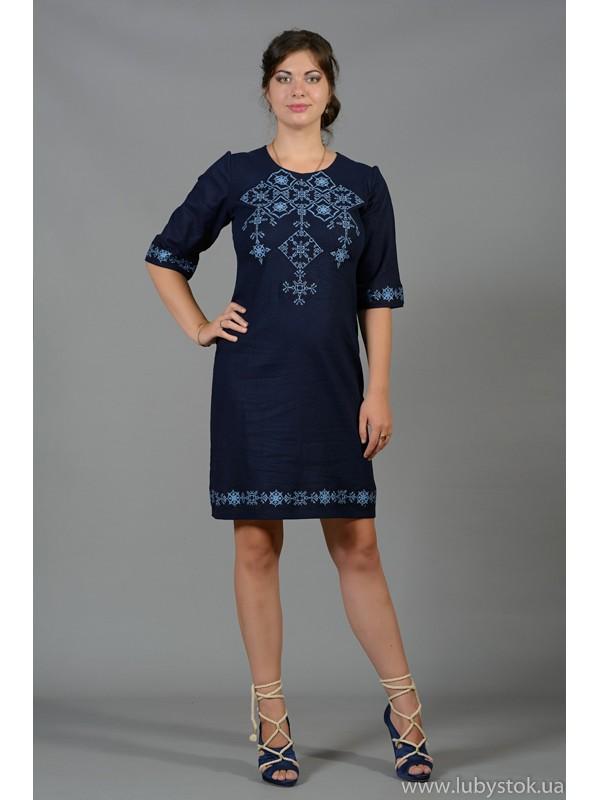 Вишита сукня хрестиком ЖПВ 16-6
