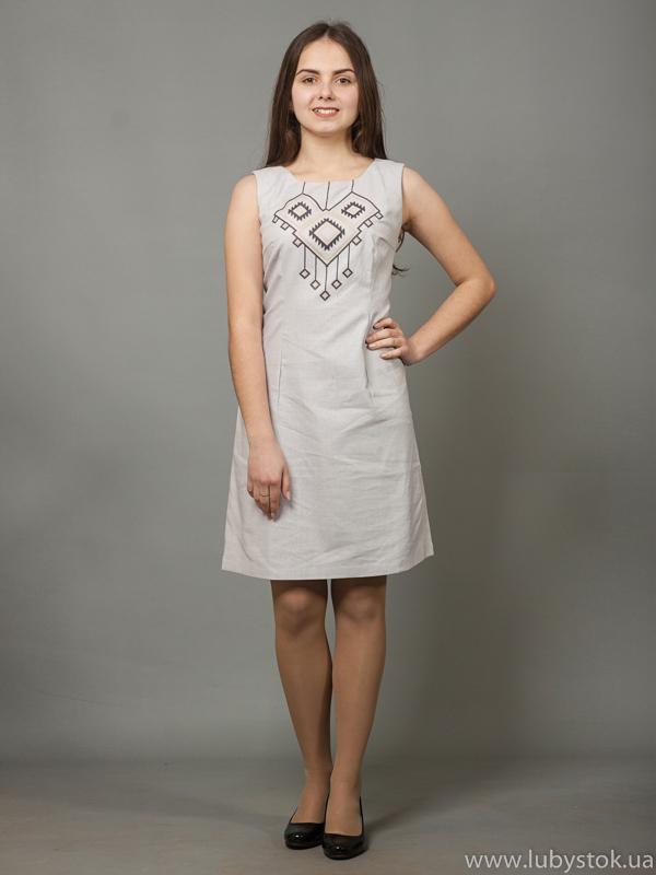 Вишита сукня хрестиком ЖПВ 17-13