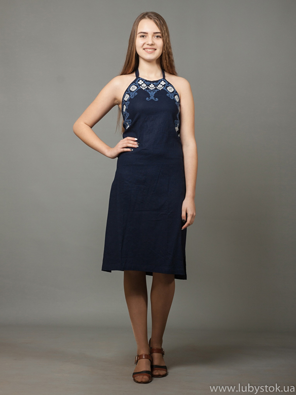 Вишита сукня хрестиком ЖПВ 18-7