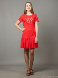 Вишита сукня хрестиком ЖПВ 21-5