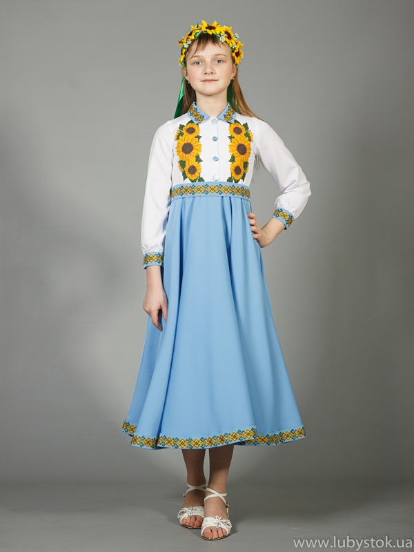 Вишита сукня для дівчинки ЖПВ 41-1